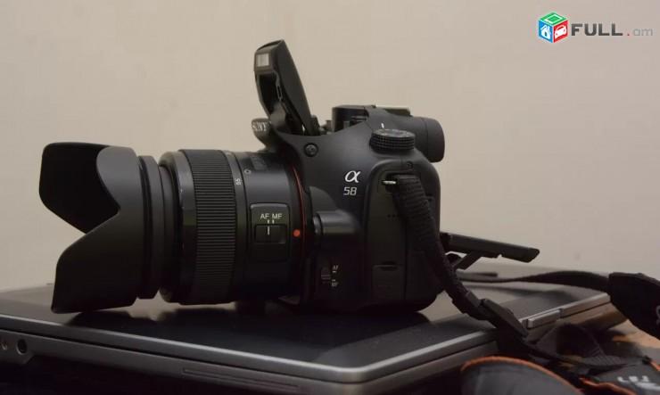 Fotoaparat Sony a58 Շատ լավ վիճակում + full complect