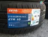 215 / 55r16 Zeta ֆիրմայի ամառային նոր անվադօղեր 100%