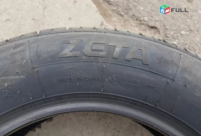 215 / 60r16 ZETA ֆիրմայի 4հատ նոր ամառային անավդօեր 100%