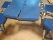 Բացովի սեղան և 4 աթոռ