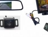 Մեքենայի ետընթացի համակարգ տեսախցիկ գիշերային հնարավորությամբ + մանիտոռ