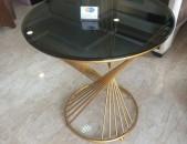 Կլոր ապակյա սեղան, Круглый стеклянный стол, Round glass table