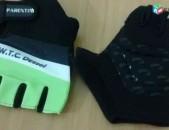 Ձեռնոցներ Parentini, սև / կանաչ