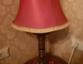 Գերմանական շքեղ լամպա, սեղանի լամպ, փայտե հենքով: Лампа Lampa