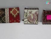 Ձեռագործ տափակ պայուսակներ գեղեցիկ հայկական նախշերով: Տեսակ 3-47