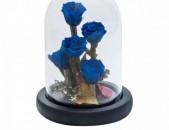 Բնական անթառամ վարդերի փունջ 17սմ-անոց կոլբայում, համար 45-49