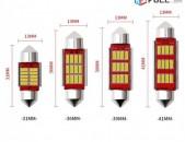 LED C5W 31մմ 36մմ 39մմ 41մմ լայնքերով spitak luys Canbus