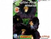 Свежие семена эксклюзивной мальвы (шток-роза) сорта Мулатка. 20шт
