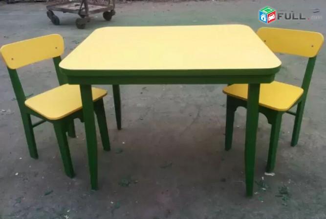 Մանկական սեղան իր երկու աթոռներով / mankakan sexan ir erku atornerov