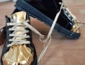 Крассовки Adidas новая оригиналный Лаковый золотой и Чёрный