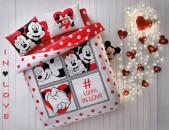 Մանկական Հավաքածու Taç - Minnie & Mickey in Love - երկտեղանի