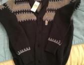 Tommy Hilfiger Mens Blue Shawl-Collar Fair Isle Cardigan Sweater M