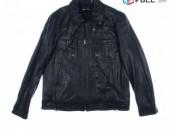 Kenneth Cole New York Black Leather Jacket M size