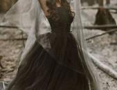 Halloween black bride dress, sev harsi shor, gothic dress