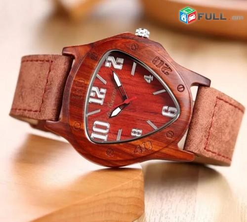 Օրիգինալ Ժամացույց կարմիր սանդալի փայտից # 324