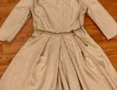Կանացի Զգեստ. Գույնը Բեժ, Կաթնագույն. Չափսը 38-40