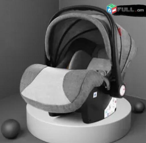 Детская коляска-трансформер 2 в1 от компании Belecoo 535-Q3 (Dark Grey) Прогуло