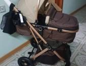 Մանկասայլակ belecco շատ կոմպակտ ծալվող, baby stroller belecco brown