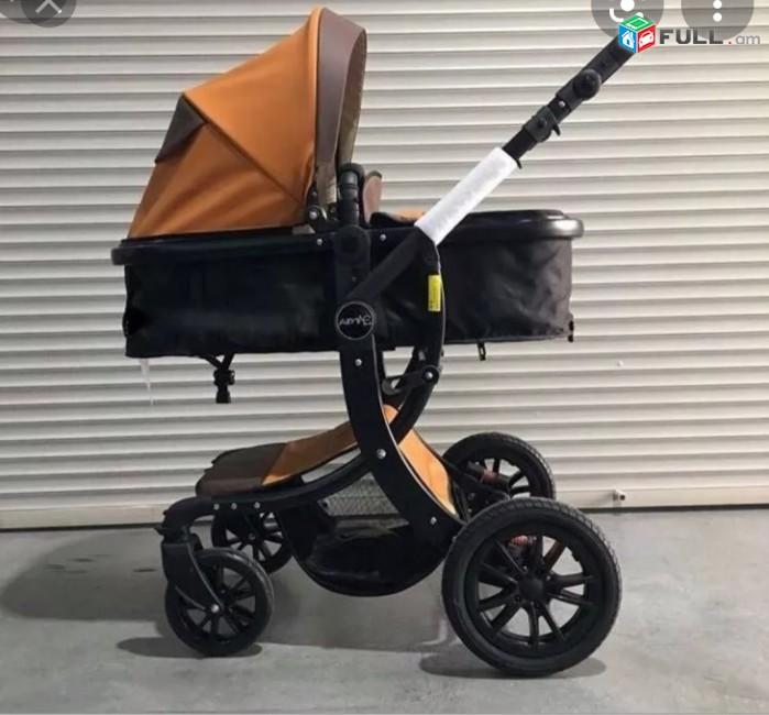 Коляска Aimile экокожа трансформер 2 в 1, մանկասայլակ, baby stroller