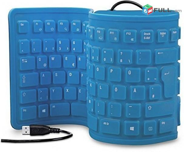 Smart Lab: Keyboard klaviatura Клавиатура Rezinic usb, flexible keyboard