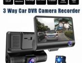 Videoregistrator 3 kamera * 4 * ekran