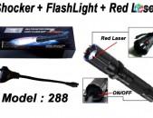 1000KV, Elektroshok, Elektroshoker Shocker, 288 Type Light Flashlight + Laser