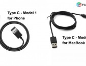 1M, USB 3.1 Type C Data Charge Cables for Phone and MacBook