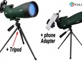 Heraditak Monokulyar Монокуляр Monocular 20-60x80 + Shtativ + Phone Adapter