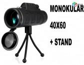 40x60 Monocular, Монокуляр, Бинокль, heraditak, հեռադիտակ + Jkun shtativ 11cm