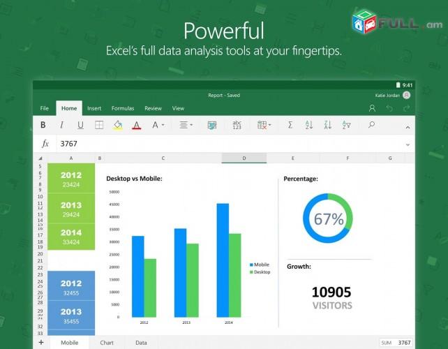 Excel-ov kkazmem amsekan ev tarekan hashvarkayin cragir
