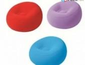 Փչովի աթոռ բազմոց կլոր Bestway 1.12m x 1.12m x 66cm Inflate-A-Chair