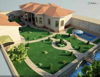 kanchapatum Տարածքների 3d նախագծում, դիզայն, բույսերի տնկում, գազոնի ցանք, chim, xot