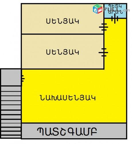Հ. Ա. Ա-1թաղ. 1-գիծ, 3-սենյակ նոր կապ. վերոնորոգված չօկտագործված