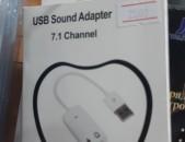 Hi Electronics USB to Sound kart Adapter Saound Card Նոր է