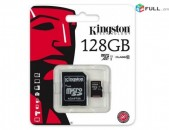 Original Kingston 128gb Micro sd Card 10rd Class + Erashxiq + Araqum