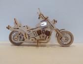 Деревяный мотоцикл