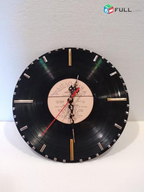 Настенные часы из пластинки