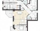 4 սենյականոց բնակարան նորակառույց շենքում Օրբելի եղբայրների փողոցում, 146 ք.մ., 3 սանհանգույց kod-N220