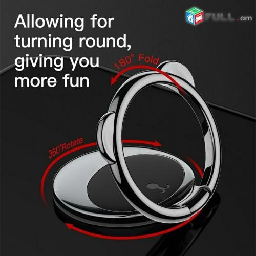 Baseus metal finger ring holder for iPhone Samsung mobile phone ring 360 degree