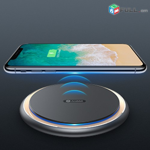 Andobil Boost Wireless Charger, Qi Certified 15W / 7.5W Fast Wireless iPhone / A
