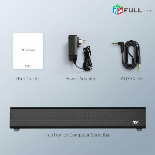 10 watts (Звуковая панель Bluetooth 5.0, 16 дюймов, Компьютерная проводная беспр