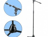 K&M 210 / 9 Tripod Microphone Stand with Telescoping Boom (Black) Made in German