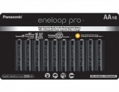 Panasonic eneloop pro AA Rechargeable NiMH Batteries (1.2V, 2550mAh, 16-Pack)