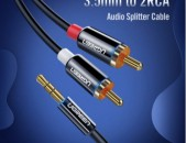 Ugreen Разъем RCA кабель 2 RCA мужчин и 3,5 мужской аудио кабель