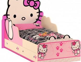 Hello Kitty աղջկա մահճակալ