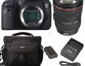Canon 6D camera + Canon 24-105mm f4.0 L IS + 1xմարտկոց + 1x լիցքավորիչ + 1x պայուսակ