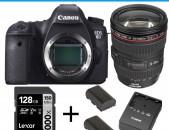 Canon 6D camera + Canon 24-105mm f4.0 L IS + 2xմարտկոց + 1x լիցքավորիչ + 128GB SD card +1x պայուսակ