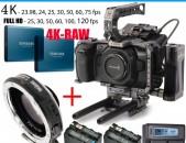 Վարձով * BMPCC4K Blackmagic camera + Tilta FULL Cage + Metabones 0.64 XL EF mount adapter