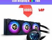 Gigabyte AORUS WATERFORCE X 360 AIO Liquid CPU Cooler, 360mm Radiator with 3X 120mm ARGB Fans