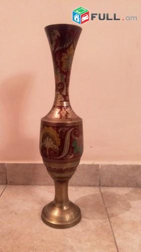 Հնդկական Ծաղկաման, Hndkakan caxkaman latunic, Индийская ваза, латунь, 50 cm